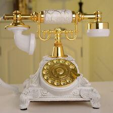 Retro Antik Telefon Festnetztelefon Tisch Haustelefon Retrotelefon Deko Weiss