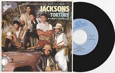 """Michael Jackson Jacksons TORTURE Disque 45t 7"""" Vinyl Single Record JAPAN 1984"""