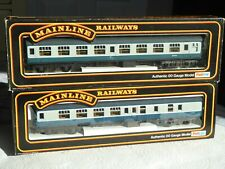 2  Mainline 00 Gauge BR MK 1 Corridor /Brake Blue/Grey 2nd Class Coaches SK/BSK
