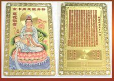 Feng Shui Lotus  Quan Yin, Kwan Kuan Yin  Card Amulet For Protect,  A Nice Gift