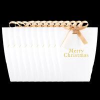 2021 New White Christmas Xmas Party Paper Favour Candy Sweets Gift Boxes Ribbons