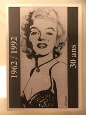 MARILYN MONROE art POSTCARD French 1962/1992 30 ans limited edition of 300