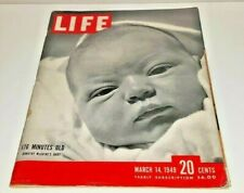 March 14, 1949 LIFE Magazine CHURCHILL 40s History Ads adds ad FREE SHIPPING 3