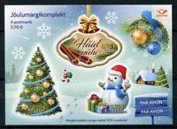 Estonia 2017 MNH Christmas Trees Snowman 4v S/A M/S Seasonal Stamps