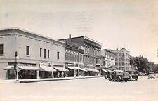 Washington Iowa~North Side Square~Hardware~Market~Graham's~Ice Cream~1944 RPPC