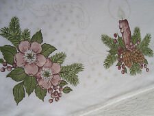 Vintage German Christmas Xmas small Tablecloth or Table runner