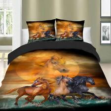 Black Horses Bedding Set Quilt Duvet Cover Set Twin/Full/Queen/King Pillowcase