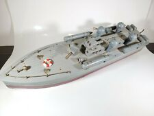 Vintage 1940s ITO Japanese Handcrafted Wooden Torpedo Patrol Boat Batt. Operated