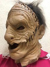 Leatherface Mask Latex Halloween Horror Fancy Dress Skinned Stitch Costume Masks