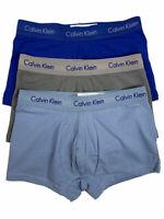 CALVIN KLEIN COTTON STRETCH UNDERWEAR 3-PACK LOW RISE TRUNKS SZ XL  #NU2664-NWT