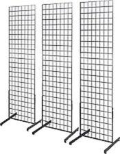 Only Hangers 2' x 6' Grid Wall Panel Floorstanding Display Fixture 3 pack