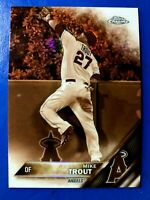 2016 Topps Chrome Sepia Refractor #1 Mike Trout Los Angeles Angels
