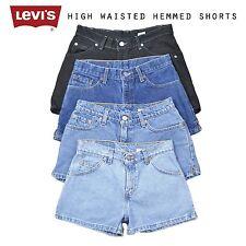 Klasse A Levis Vintage Damen hoher Bund eingeengt Denim Shorts 6 8 10 12 14 16