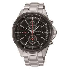 Scnp SNDE 27p1 Seiko Herren Datum Chronograph Edelstahl Armbanduhr