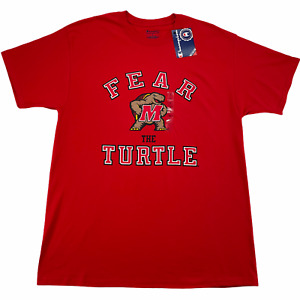 Maryland Terrapins T-Shirt Champion Men L Red Fear The Turtle Short Sleeve