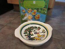 Vintage Majolika Kinder Warmhalter-Teller Ducks Baby Child WARMING BOWL Ceramic