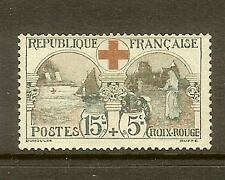 "FRANCE STAMP TIMBRE N°156 "" CROIX ROUGE 15c+5c L'INFIRMIERE 1918 "" NEUF xx TB"