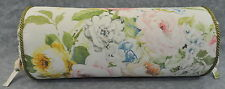 Neckroll Pillow using Ralph Lauren Home Lake White Floral Fabric w Green cord
