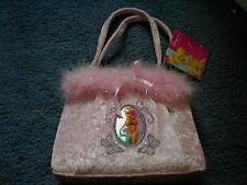 Disney Store Tinkerbell Pink Velvety Fluffy Handbag NEW READ DESCRIPTION