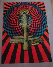 "VINTAGE  '70s RETRO  PRO ART INC. VIVID BLACK LIGHT ""COBRA"" POSTER  LOT OF 25"