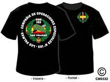 CAMISETAS MILITARES: COES - COMPAÑIA OPERACIONES ESPECIALES Nº 103 - LAS PALMAS