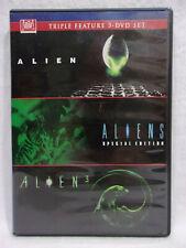 ALIEN Triple Feature SCI-FI HORROR DVD Movies- Alien, Aliens, Alien 3