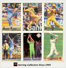 1994/95 Futera Cricket Trading Cards Base Card Full Set (110)-International