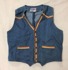 Vintage Denim Vest Pre-Owned Faded Glory Brand Size 42 1970s
