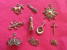 Tibetan Silver Rapunzel/Tangled Themed Mixed Charms 10 per pack