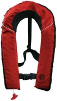 SALVS Manual Inflatable Life Jacket for Adults | Red Life Vest