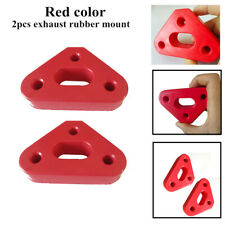 2x3Hole Strong Rubber SUV's Car Exhaust Tail Pipe Mount Bracket Hanger Insulator