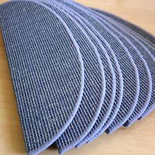 Restposten 10 Stufenmatten Sisal Premium Stahlblau halbrund 65x23 Metallwinkel