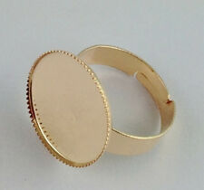 30 Rose gold plated Ring Base Blank Glue-on 18mm *20832