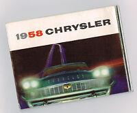 1958 CHRYSLER Mini-Brochure: NEW YORKER,SARATOGA,WINDSOR,Convertible,T&C Wagon,