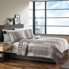 Eddie Bauer Fairview 3-Piece Cotton Reversible Quilt Set, Full/Queen