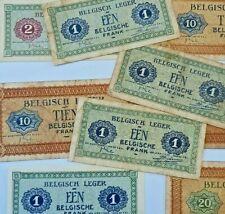 1 - 2 - 10 - 20 Francs Frank Armée WWII Belgisch Leger #F7# Belgium