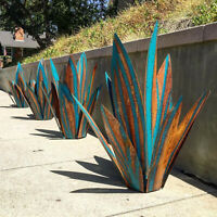 Diy Metal Art Tequila Rustic Sculpture Garden Yard Sculpture Home Decor 9 leaves