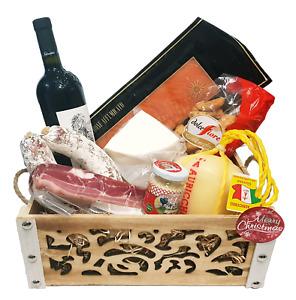 Strenna di Pasqua GOLD BOX 1 - Cesto Gastronomico Pasquale salumi formaggi