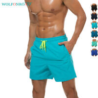 Waterproof Men's Quick Dry Beach Casual Shorts Swim Trunks Pockets Board Shorts
