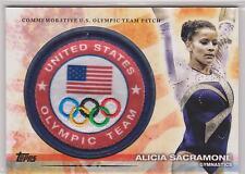 2012 TOPPS OLYMPIC ALICIA SACRAMONE TEAM PATCH CARD ~ GYMNASTICS