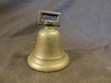 Old Vtg Antique Metal Teacher Hand School Bell Ringing