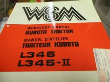 Kubota L345 L345-Ii Tractor Workshop Manual