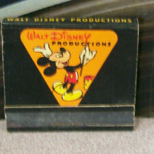 Vintage Matchbook K6 Walt Disney Productions Painting Mickey Mouse Artist Logo