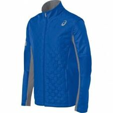 Asics THERMO WINDBLOCKER Mens Zipper Front Reflective Jacket 2XL Air F. Blue NEW
