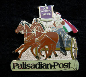 Torino 2006 Winter Olympic Palisadian - Post Extra Large Chariot media pin