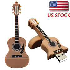 16GB Guitar USB 2.0 Metal Flash Memory Key Stick Pen Drive Storage Thumb U Disk