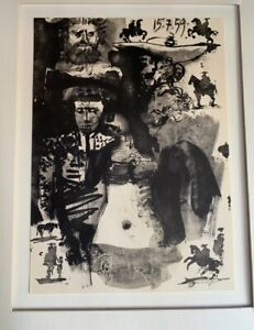 """Pablo Picasso Original Litho 1961  Numbered On Plate 11x15"""" Matted 16x20"""" . NEW!"""