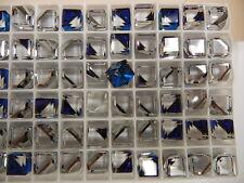 18 Swarovski Crystal 3/4 Flatback Cubes 8mm Bermuda Blue Z #4841