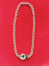 TIFFANY & CO 1837 STERLING SILVER CIRCLE CHAIN LINK CLASP TOGGLE LARGE NECKLACE