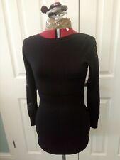 Womens Long Black Jumper Dress, Butterfly Details, Size S/M By luxestar